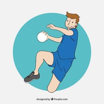 Profesjonalny ręczny gracz piłki ręcznej