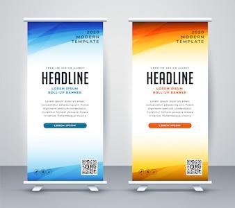 Profesjonalny roll up stand banner szablon projektu