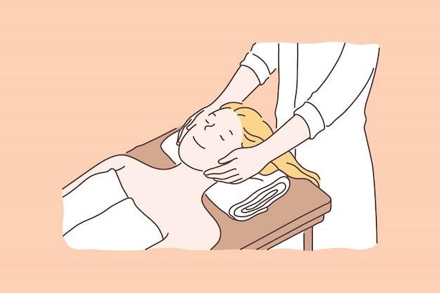 Profesjonalny salon spa, koncepcja usług kosmetycznych