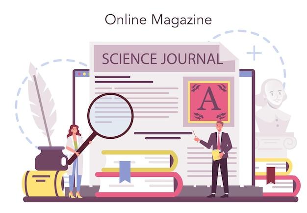Profesjonalny serwis lub platforma online dla literaturoznawców