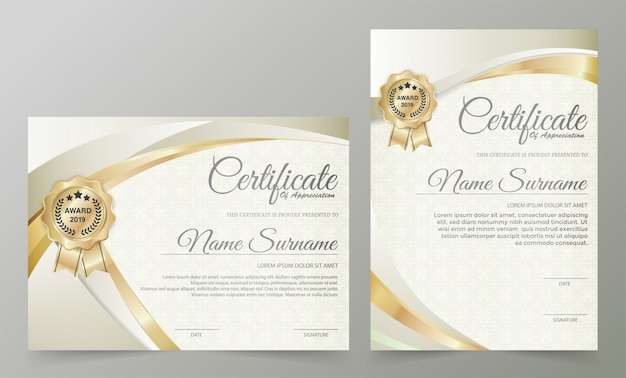 Profesjonalny szablon certyfikatu dyplomu