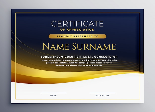 Profesjonalny szablon certyfikatu uznania