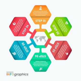 Profesjonalny szablon infografiki technologicznej połączonej sieci