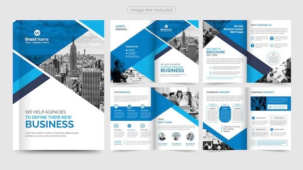 Profesjonalny Szablon Projektu Broszury Biznesowej Premium Wektorów