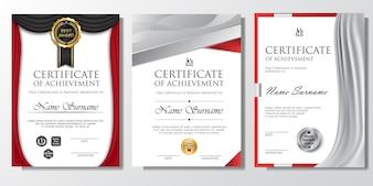Profesjonalny szablon tła certyfikatu z BADGE