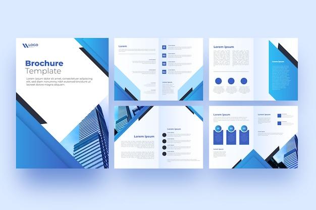 Profesjonalny układ szablonu broszury