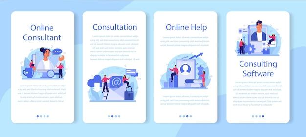 Profesjonalny zestaw banerów aplikacji mobilnej doradztwa