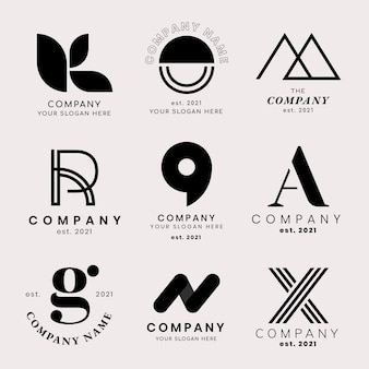 Profesjonalny zestaw klasycznych logo biznesowych