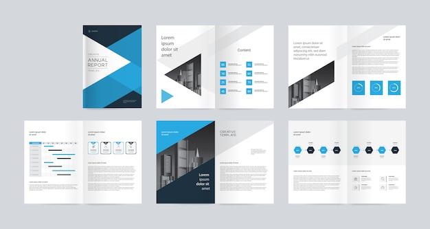 Profil firmy biznesowej, raport roczny, szablon broszur