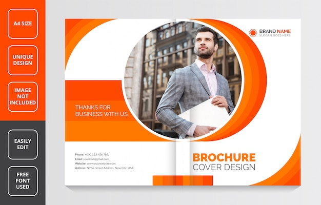 Profil firmy broszura cover design, szablon nowoczesnej broszury biznesowej