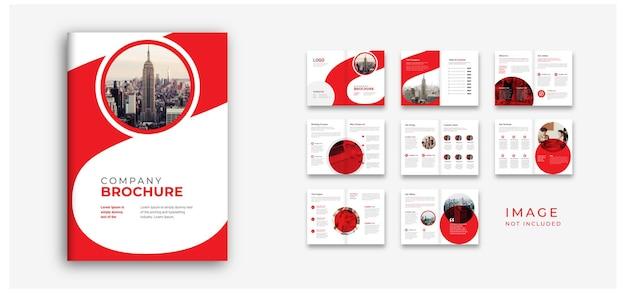 Profil firmy i układ propozycji projektu kolorowy niepowtarzalny design