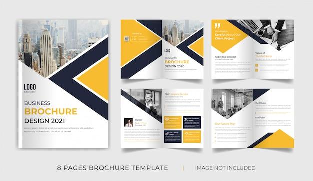 Profil firmy ośmiostronicowy szablon broszury