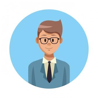 Profil kreskówka biznesmen