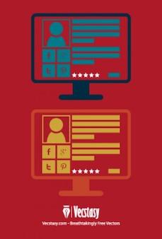 Profil społecznej na monitorze komputera
