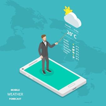 Prognoza pogody online izometryczny płaski