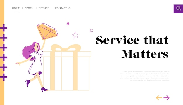 Program lojalnościowy dla stałych klientów szablon landing page