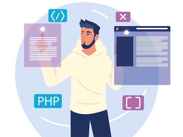 Programista uczący się języków programowania