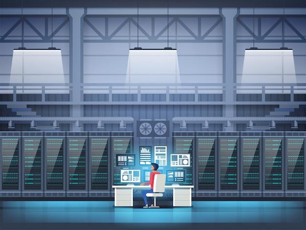 Programista w centrum danych