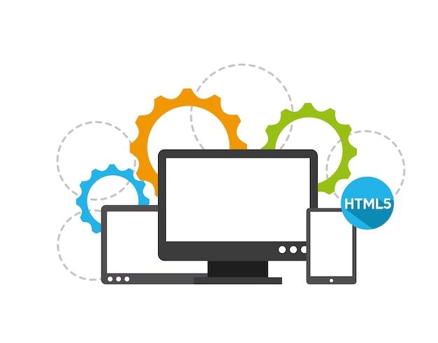 Programowanie oprogramowania projektowanie, ilustracji wektorowych eps10 grafiki