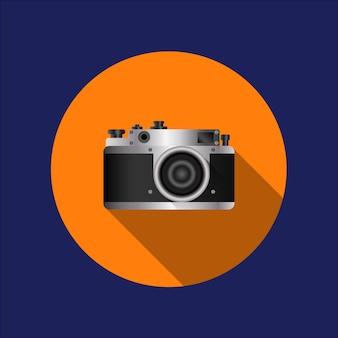 Projekt aparatu fotograficznego i fotografii, grafika ilustracji wektorowych