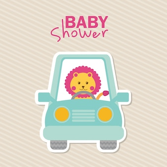 Projekt baby shower nad liniowym tle