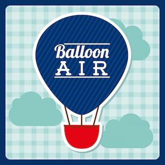Projekt balonu powietrza na tle ilustracji wektorowych
