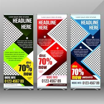 Projekt banera marketing rollup