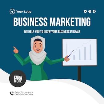 Projekt banera marketingu biznesowego