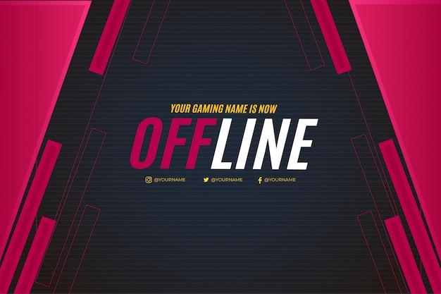 Projekt banera offline dla szablonu twitch
