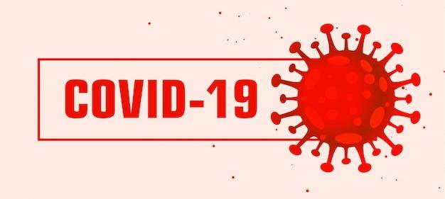 Projekt banera pandemicznego wirusa czerwonego wirusa covid-19