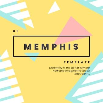 Projekt banera strony internetowej memphis