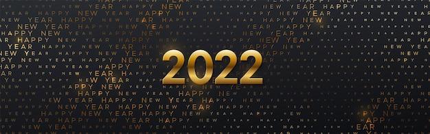 Projekt banera szczęśliwego nowego 2022 roku