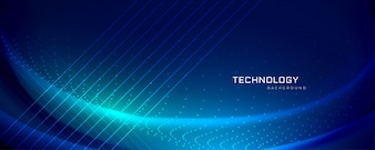 Projekt banera technologii z efektami świetlnymi