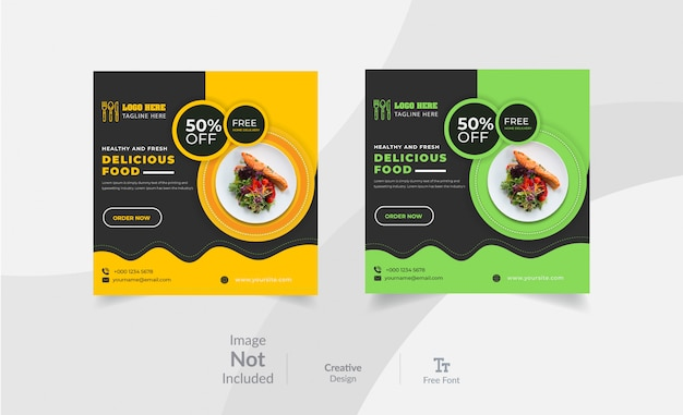 Projekt banera w mediach społecznościowych restauracji