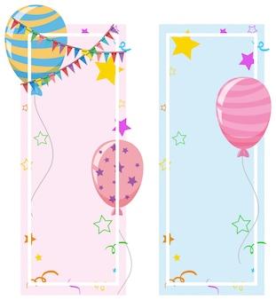 Projekt banera z balonów i gwiazd