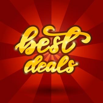 Projekt banera z frazą najlepsze oferty