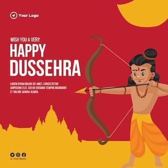 Projekt banera życzę bardzo szczęśliwego szablonu festiwalu indyjskiego w dasera