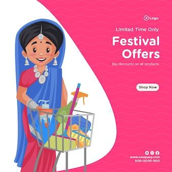 Projekt banerów z ograniczonymi czasowo ofertami festiwalowymi