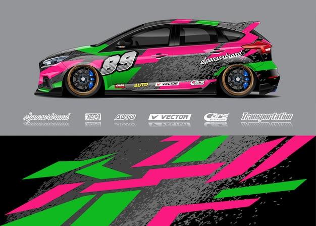 Projekt barwy samochodu wyścigowego