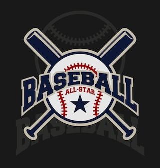 Projekt baseball tło
