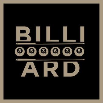 Projekt bilardowej lub bilardowej sali bilardowej