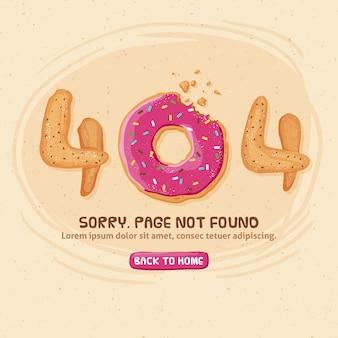Projekt błędu 404 z donutem