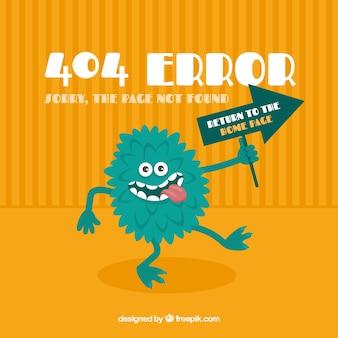 Projekt błędu 404 z zielonym potworem