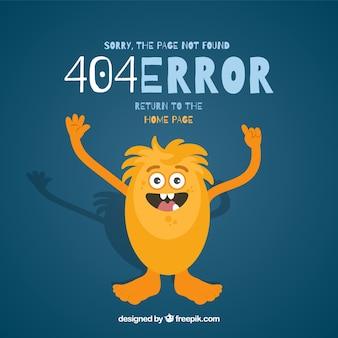 Projekt błędu 404 z żółtym potworem
