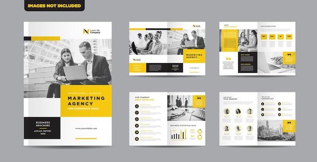 Projekt broszury biznesowej lub raportu rocznego lub broszury i szablonu projektu katalogu