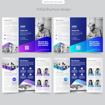Projekt broszury biznesowej trifold