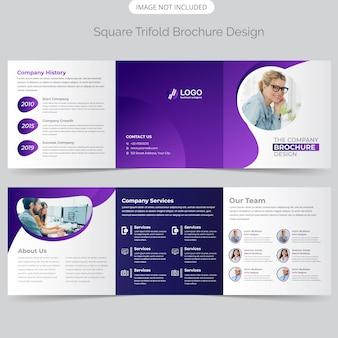 Projekt broszury business square trifold