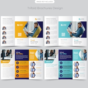 Projekt broszury business trifold