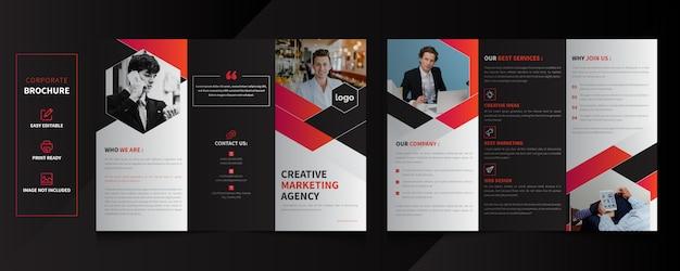 Projekt broszury korporacyjnej składanej na trzy części