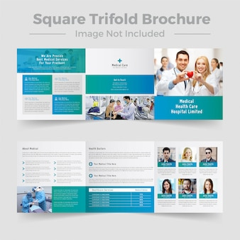 Projekt broszury nowoczesny plac medyczny potrójny